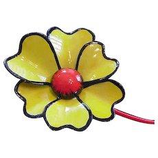 Original by Robert Pin Big Yellow Flower