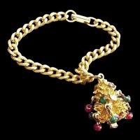 Vintage Christmas Tree Charm Bracelet