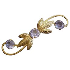Swirling Floral Pin
