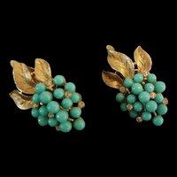 Trifari Blue Earrings