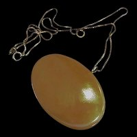 Butterscotch Oval Pendant Necklace
