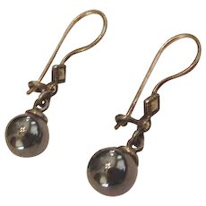 Sterling Silver Marcasite and Hematite Pierced Earrings