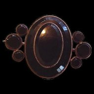 Victorian Black Onyx Layered Pin