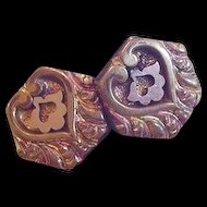 Victorian Gold Filled Cufflinks 1883