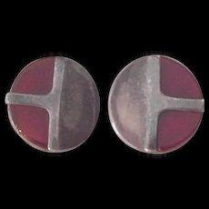 Sterling Silver and Carnelian Earrings Isreal