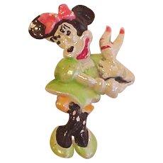 Minnie Mouse Vintage Pin Walt Disney Productions