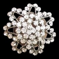 Large 11 Inch Victorian Paste Hat Pin