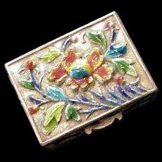 Chinese Polychrome Enamel Box