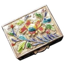 Chinese Polychrome Enamel Box