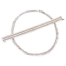 Silver Vintage Necklace and Bracelet