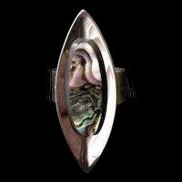Sheffield England Abalone Ring