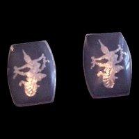 Siam Sterling Silver Earrings