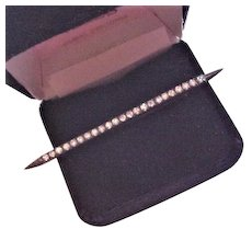Sterling Rhinestone Bar Pin