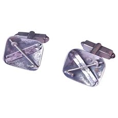 Silver  Vintage Skis and Poles Cufflinks