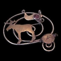 Naturalist Metalwork Moose Pin