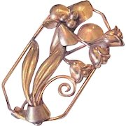 Retro Modern Floral pin with Lily of the Valley
