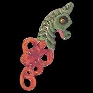 Elzac Seahorse Pin