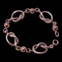 Sterling Silver Retro Modern Knots Bracelet