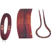 Celluloid Large Hair Barrettes and Comb / Pin