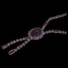 Purple Rhinestone Vintage Necklace