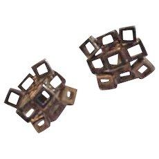 Mid Century Modern Sterling Vermeil Cufflinks