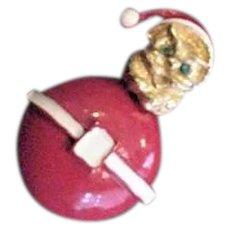 Roly Poly Christmas Santa Pin