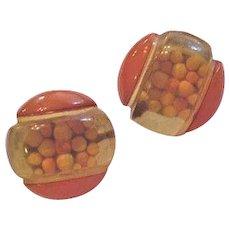 Butterscotch Bakelite Earrings