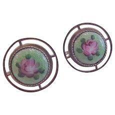Art Deco Rose Earrings