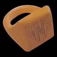 Mustard Yellow Bakelite Ring