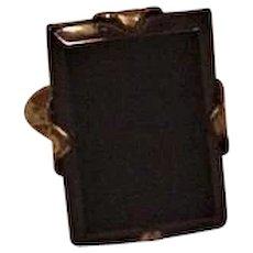 Art Deco Black Glass Ring
