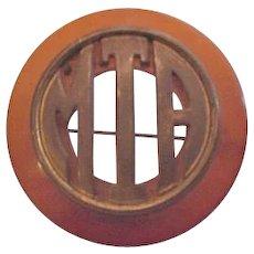 Bakelite and Brass Pin