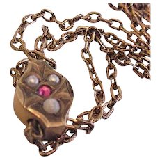 Victorian Slide Necklace - Red Tag Sale Item