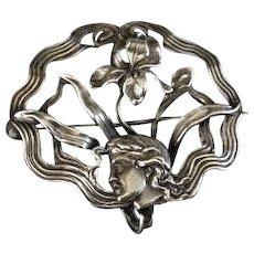 Art Nouveau Sterling Silver Pin