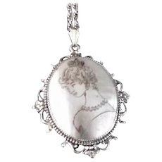 Whiting and Davis Victorian Revival Necklace