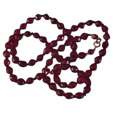 Red Crystal Strand Necklace