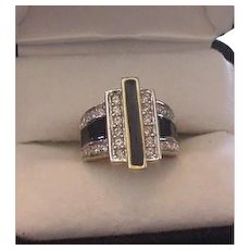 Art Deco Inspired Rhinestone Ring