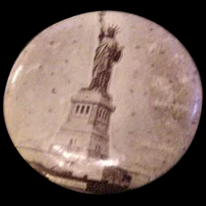 Antique Statue of Liberty Button Pin