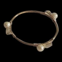 Artisan Fresh Water Pearl and Crystals Bracelet