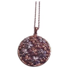 Sterling Vermeil Daisy Necklace