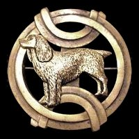 Art Deco Pointer Dog Pin