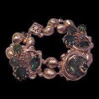 Green Rhinestone Bracelet
