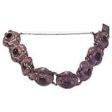 Sterling Silver Green Onyx Bracelet