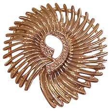 Pinwheel Style Rhinestone Pin