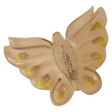 Clear Lucite Butterfly Pin