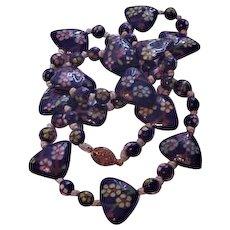 Vibrant Cobalt Enameled Necklace