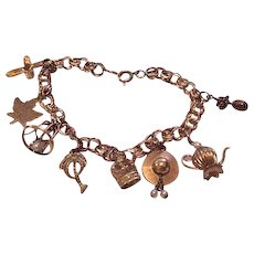 Mid Century Monet Charm Bracelet