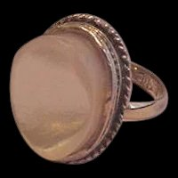 Whiting and Davis Mother of Pearl Ring
