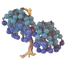 Wonderful Peking Glass Beads Tree Pin