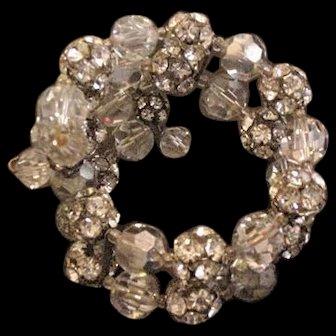 Crystal and Rhinestone Wrap Bracelet