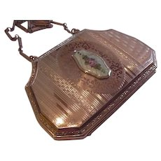 Small Enameled Compact Purse